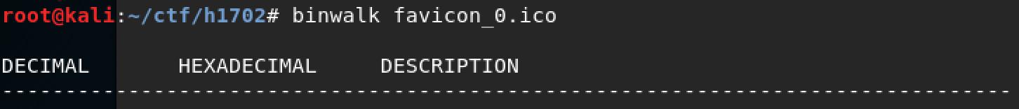 HackerOne - h1702 #HackerHoliday binwalk favicon