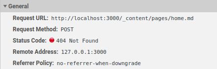Nuxt content request failed