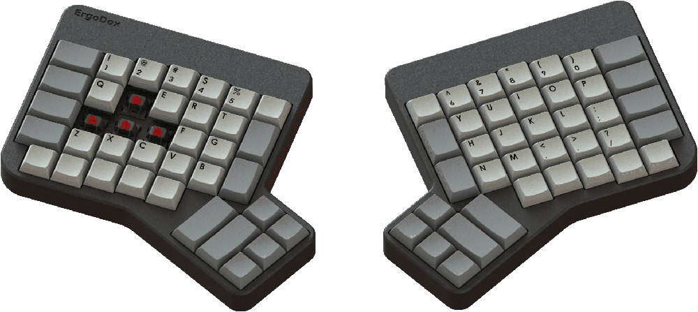 Ergodox separated keyboard that doesn't look anything like a normal keyboard