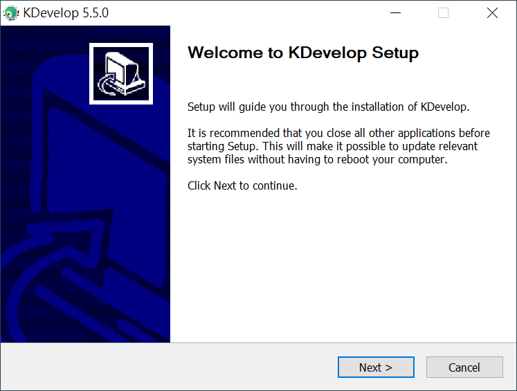KDevelop 的歡迎畫面