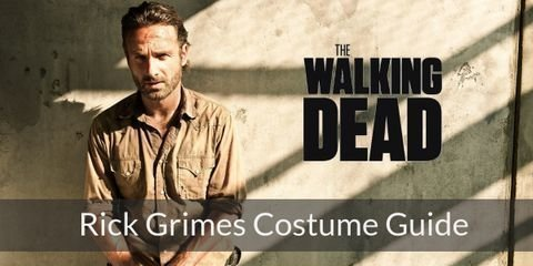 Reminiscent of his time as an officer of the law, Rick Grimes costume is a loose beige button down, dark gray jeans, and brown leather boots