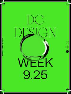 Bright green DC Design Week 2020 promotional poster artwork