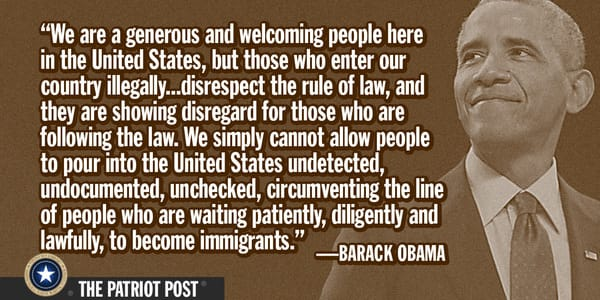 Senator Barack Hussein Obama on illegal immigration