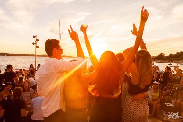 Enjoying the Nightlife on a Greece Sailing Trip