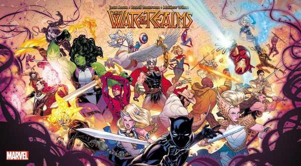 poster de a guerra dos reinos da marvel comics