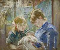 'The artists daughter Julie with her nanny' by Berthe Morisot