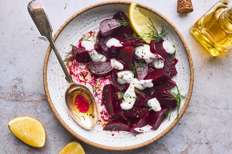 Beetroot Salad With Greek Yogurt (Patzarosalata)