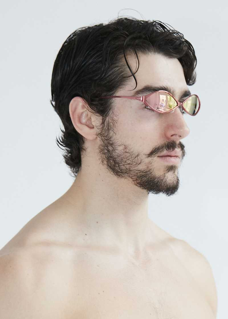 Ayni sunglasses metal red. GmbH SS20 collection.