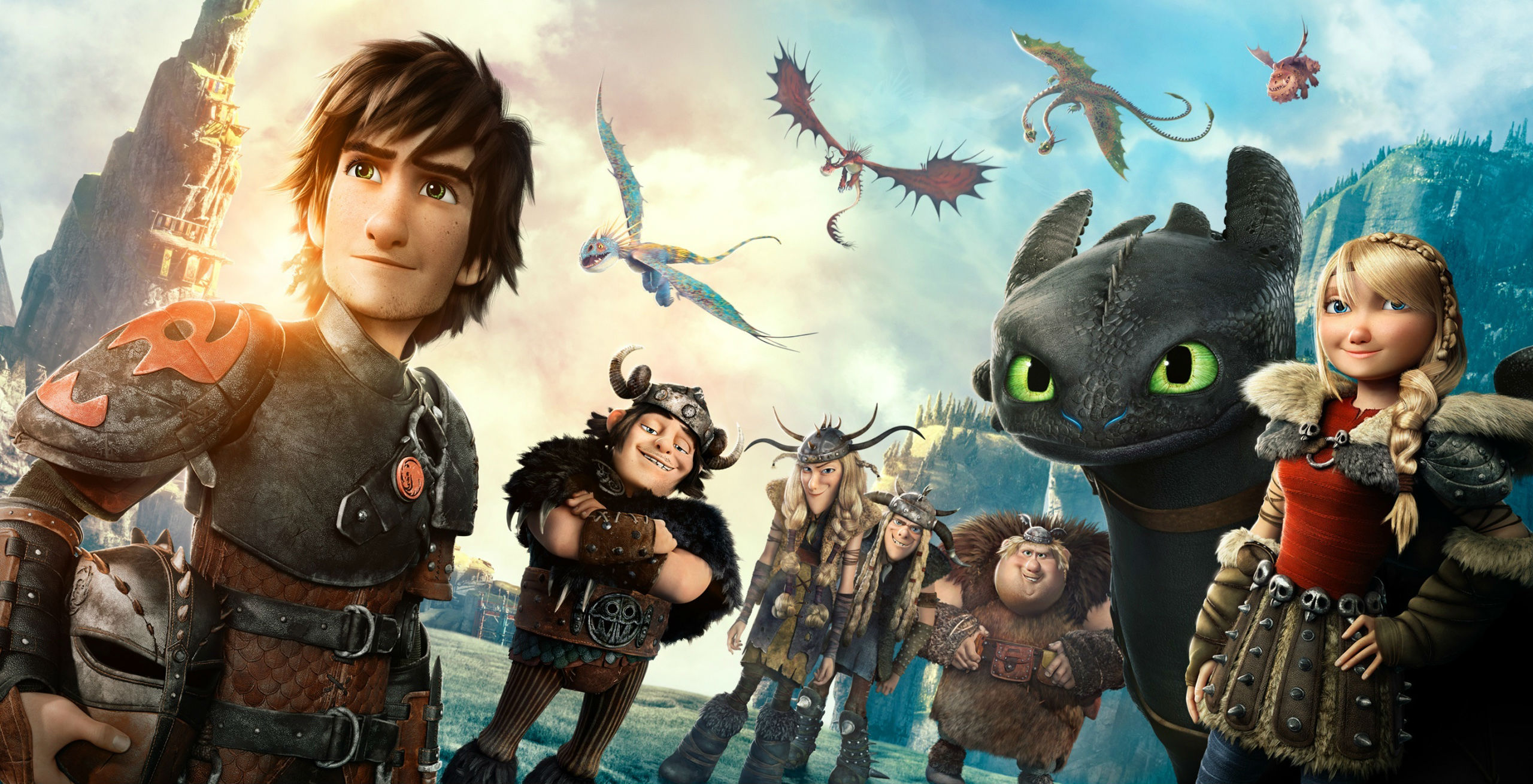 The characters from 'How to Train Your Dragon 2'.