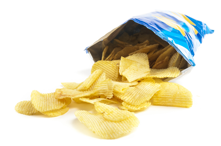 Potato chip packaging made of multilayer films