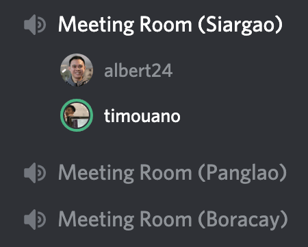 We now have meeting rooms we didn't have before.
