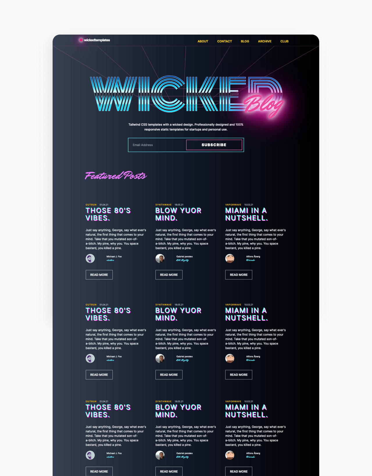 wicked templates thumbnail