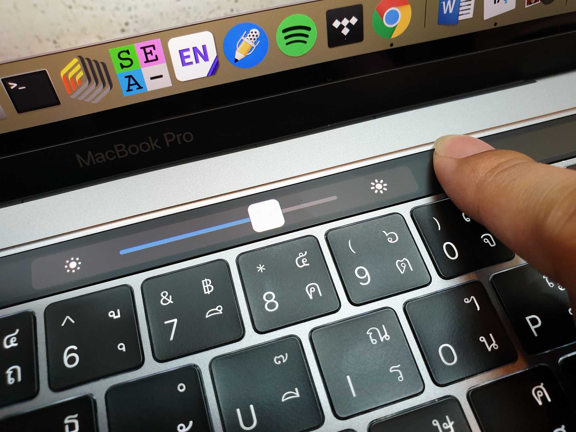 MacBook Pro 13-inch 2018 Touch Bar Close-up