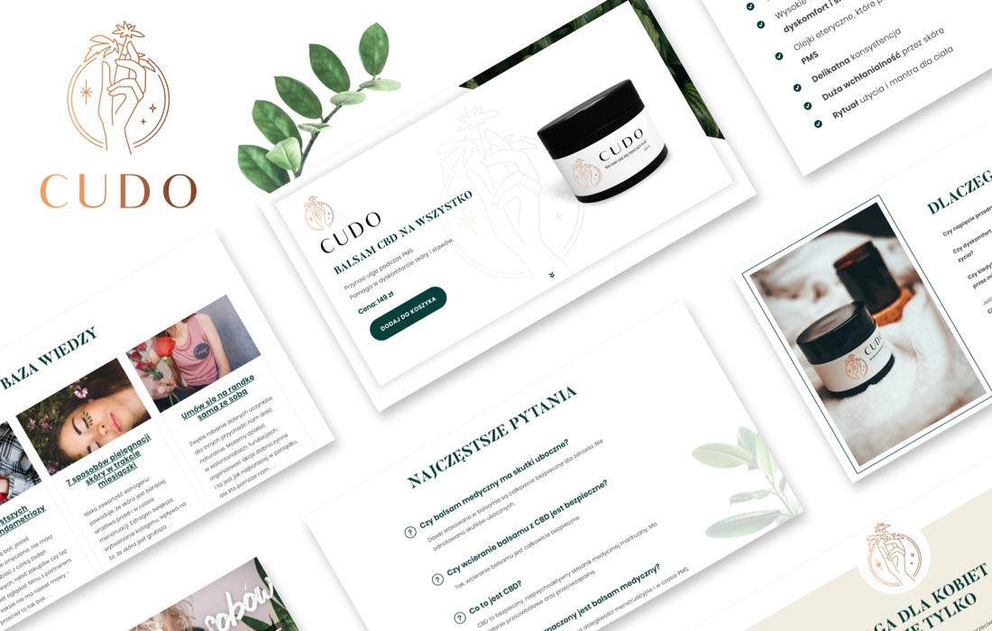 Strona internetowa i sklep internetowy balsamu CUDO