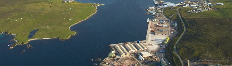 Aerial view of Lerwick harbour