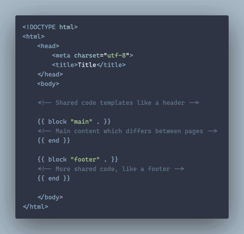 A simple baseof.html template file