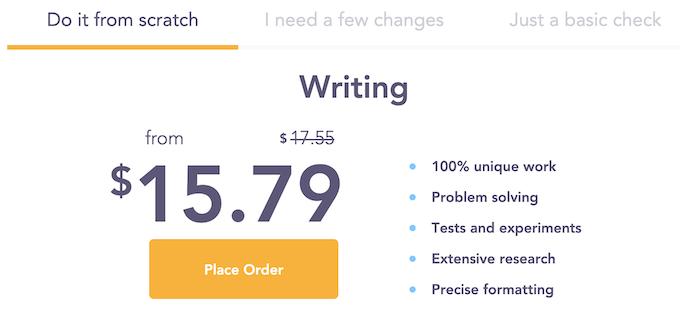 assignmentgeek.com pricing options