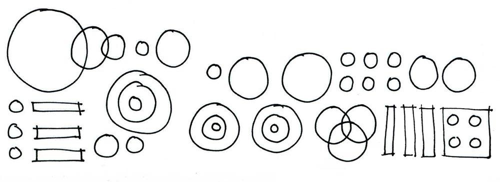 tracés circulaires main levés
