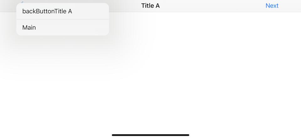 Explicitly define back button title with navigationItem.backButtonTitle