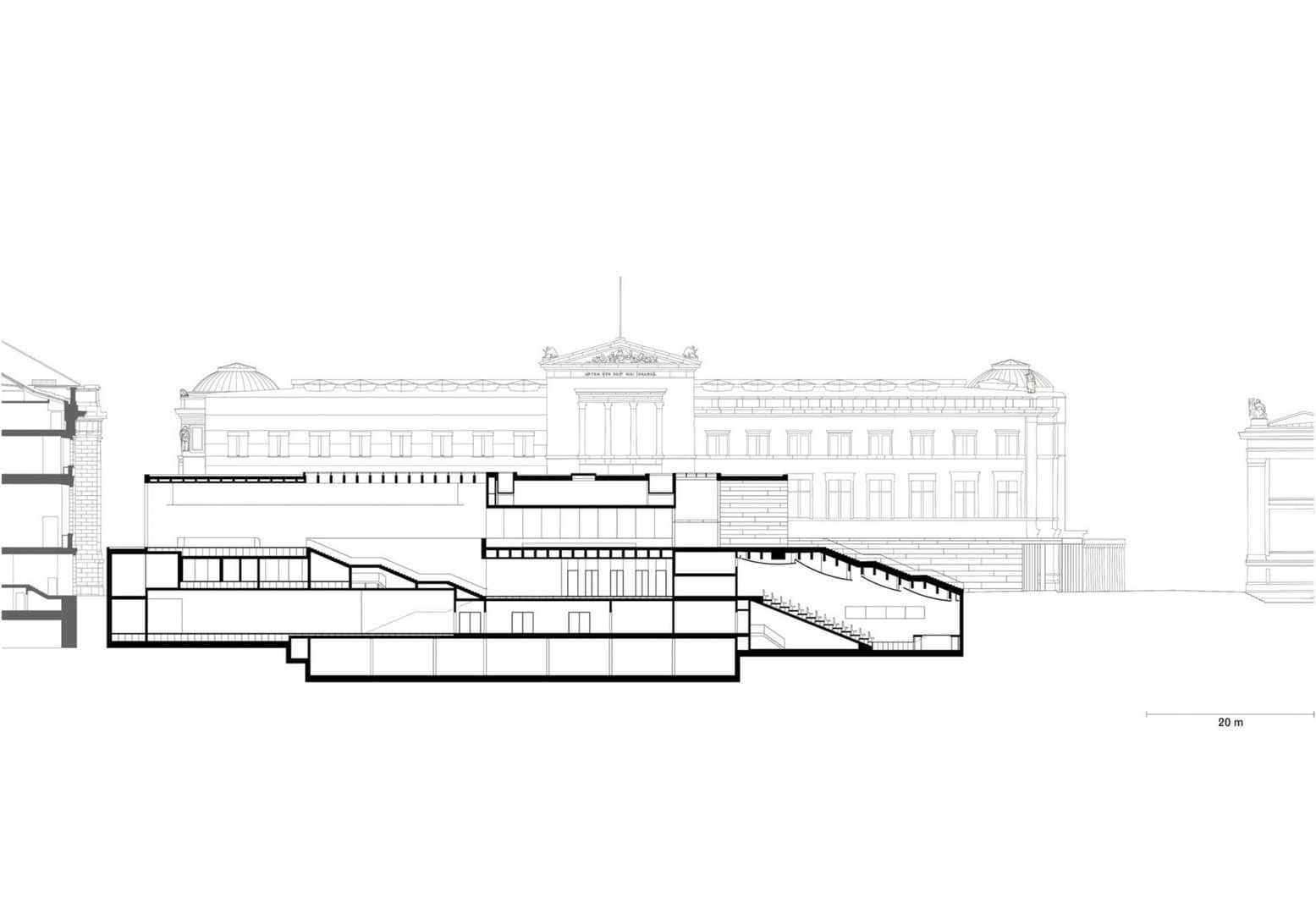 Längsschnitt Foyer und Auditorium