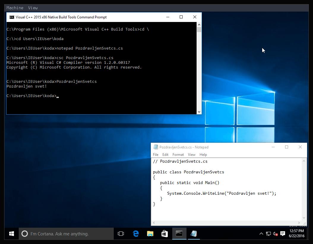 Slika 9: Windows 10 C#