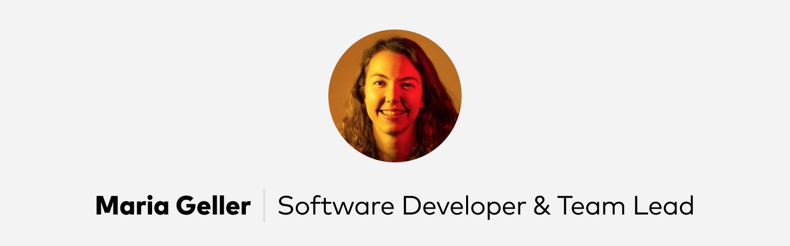 Maria Geller Software Developer at Pitch