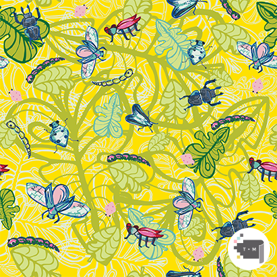 No Picnic Without Bugs Colorful Yellow