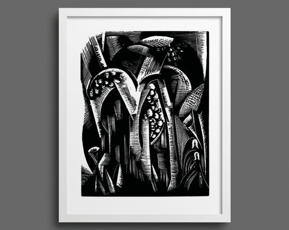 Let the earth bring forth grass Genesis Bible print