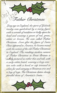 Empire Father Christmas Story Tag #1320 preview