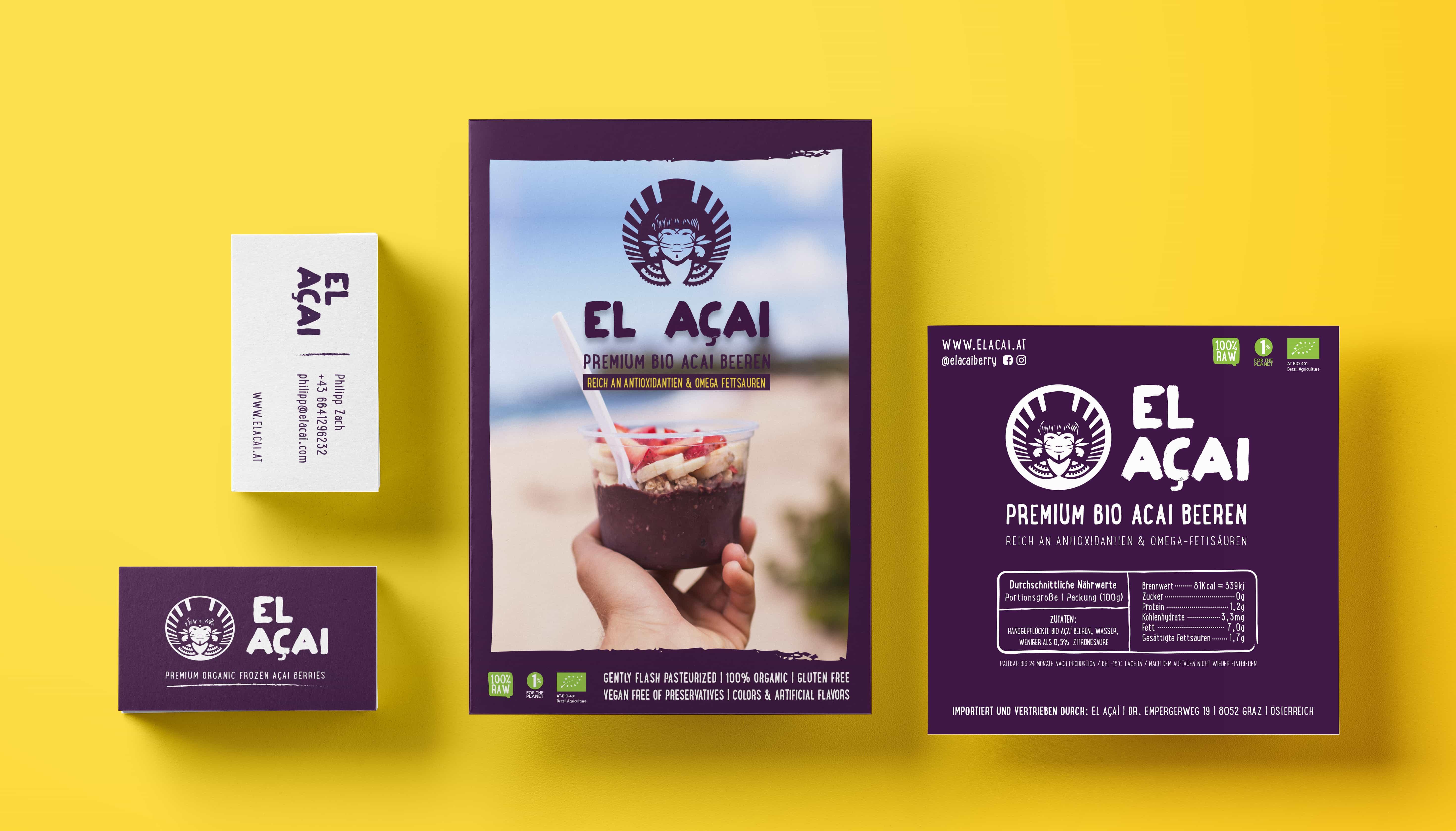 El Acai Europe Print Promotion Flyer Business Card