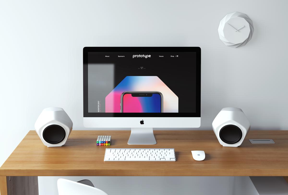 The webiste on an iMac