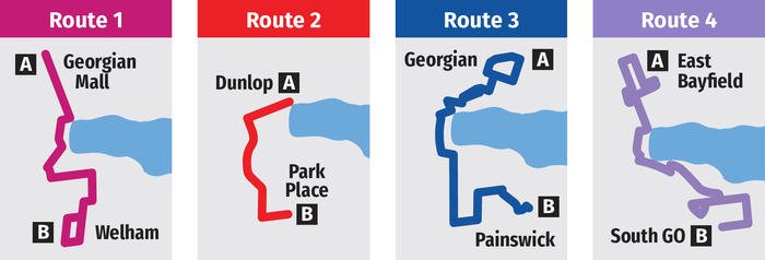 bus map barrie route icons