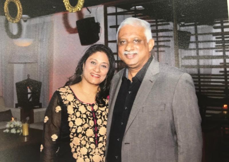Loney Antony with his wife Pushpa