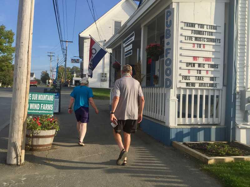 Walking in Monson, Maine
