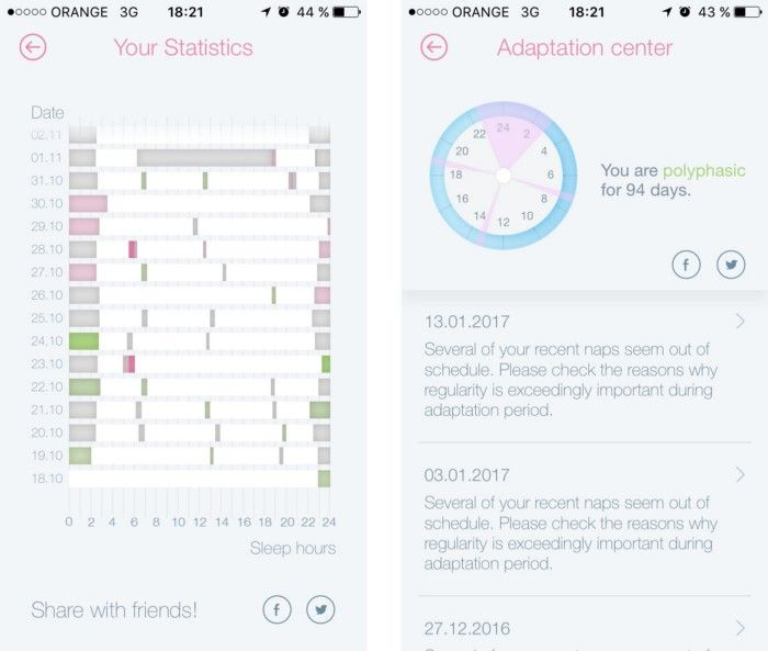 Smart Sleep on iOS helps me to track my naps and to wake up. The start was not easy.