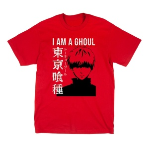 Tokyo Ghoul - I Am A Ghoul Adult Male Crew Neck T-Shirt