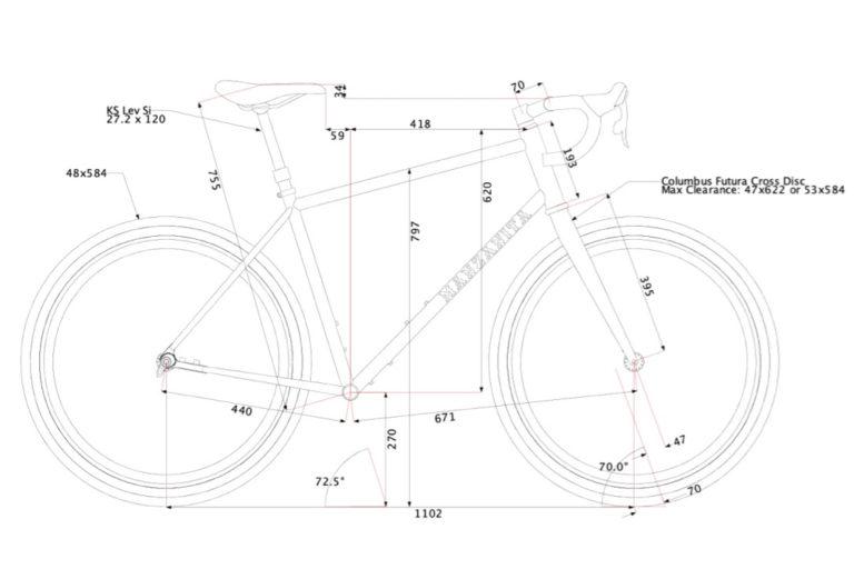 BikeCAD design of the sierra gravel explorer