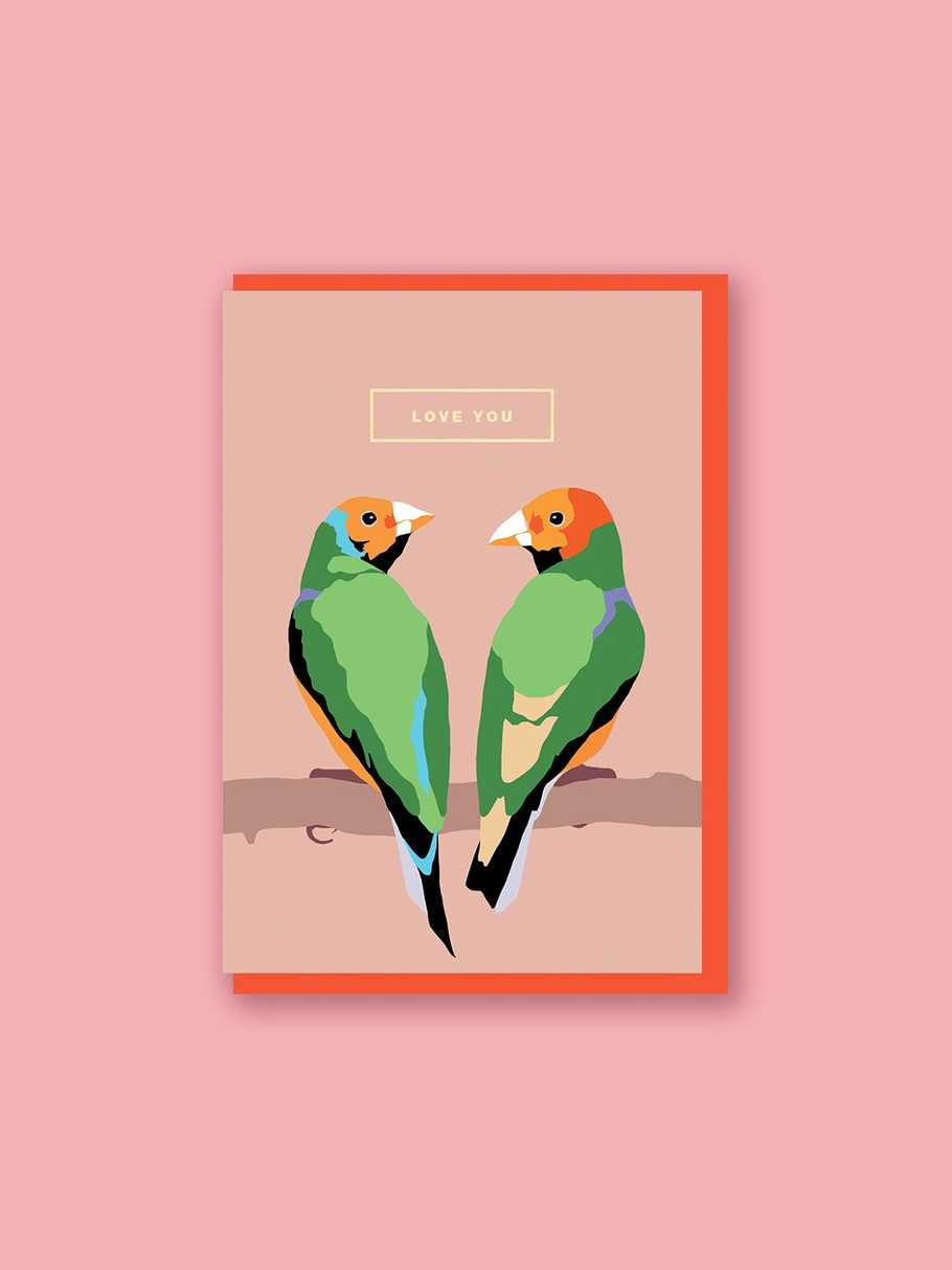 lovebirds-love-you-card