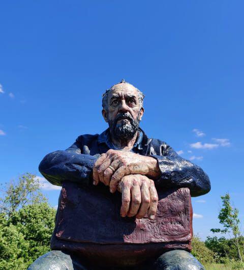 Yorkshire Sculpture Park view with sculpture