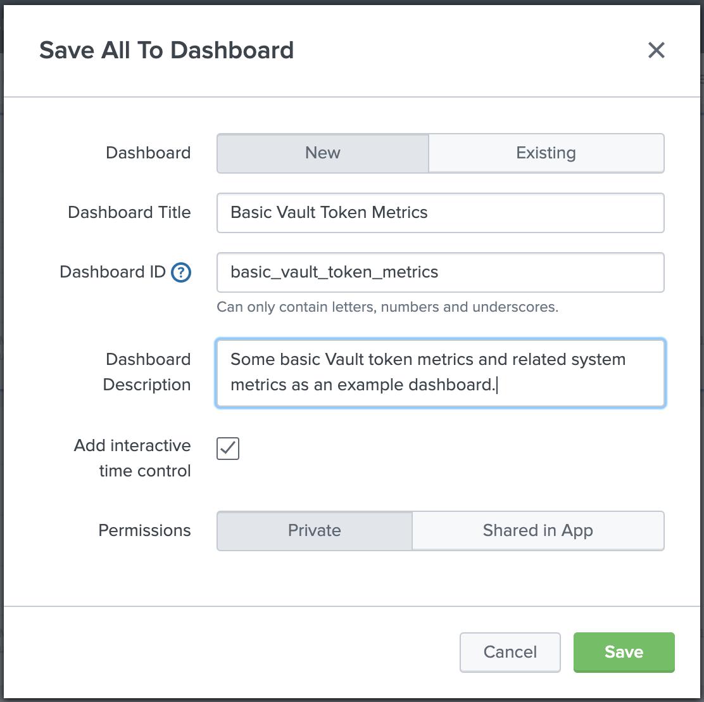 Save dashboard dialog