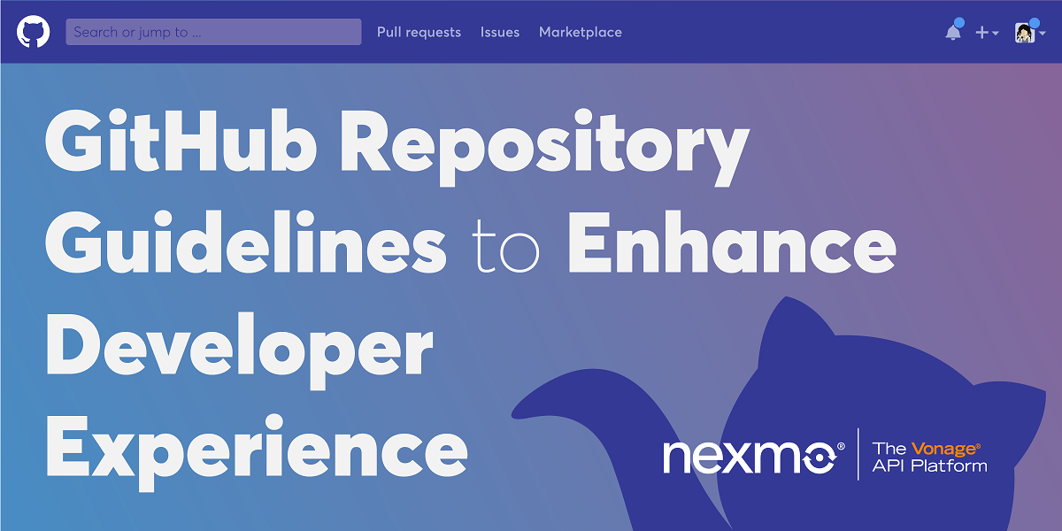 Using GitHub Repository Guidelines to Enhance Developer Experience