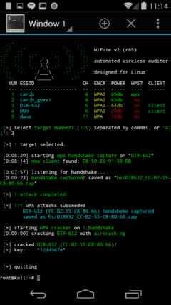 Kali Linux nethunter hacking