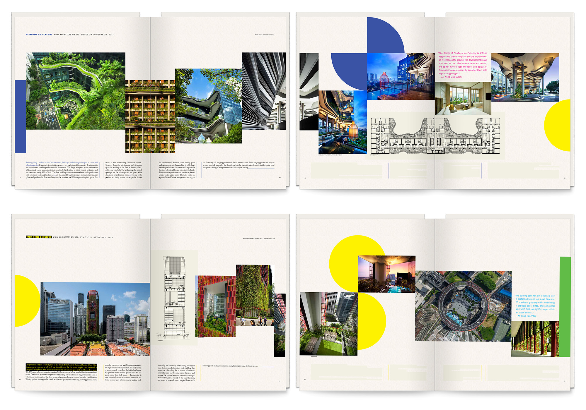 Inside spreads of the Contemporaneous Architecture book