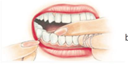 como passar o fio dental corretamente