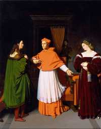 The Betrothal of Raphael and the Niece of Cardinal Bibbiena, 1813 by Ingres