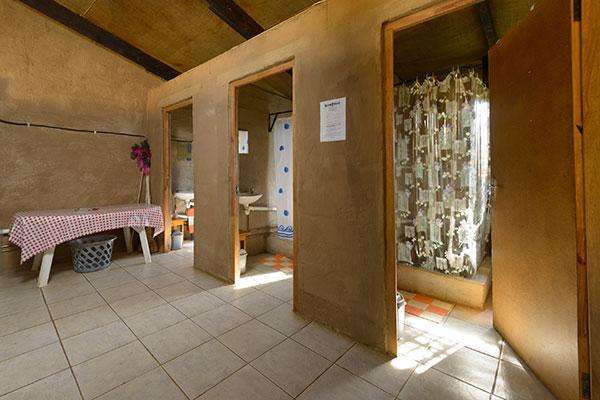 Communal shower area.