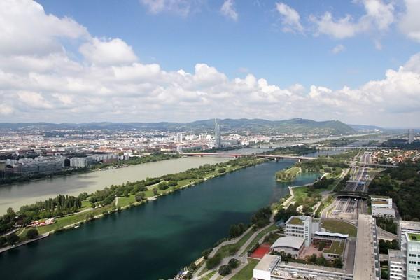 The Danube River and Danube Island