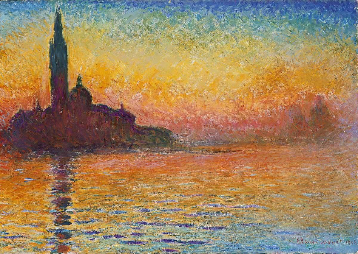 Клод Моне «Сан-Джорджо Маджоре всумерках», (ок. 1908–1912)