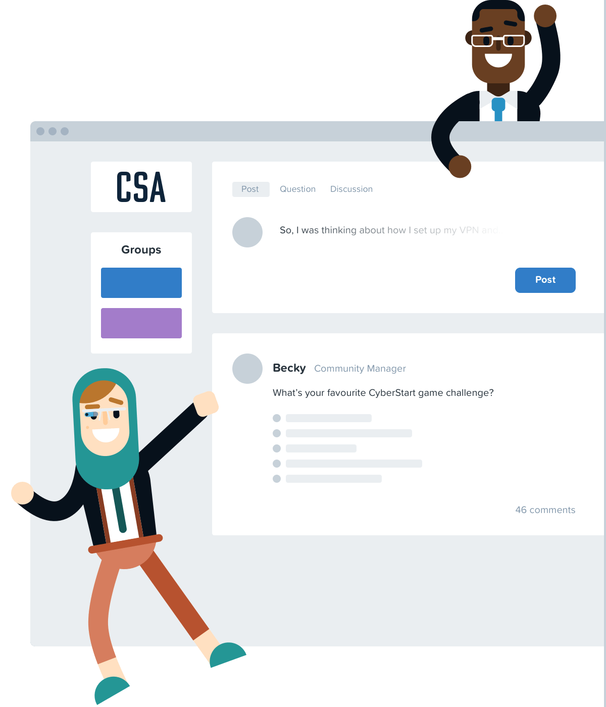 Illustrative image of the CyberStart America community platform