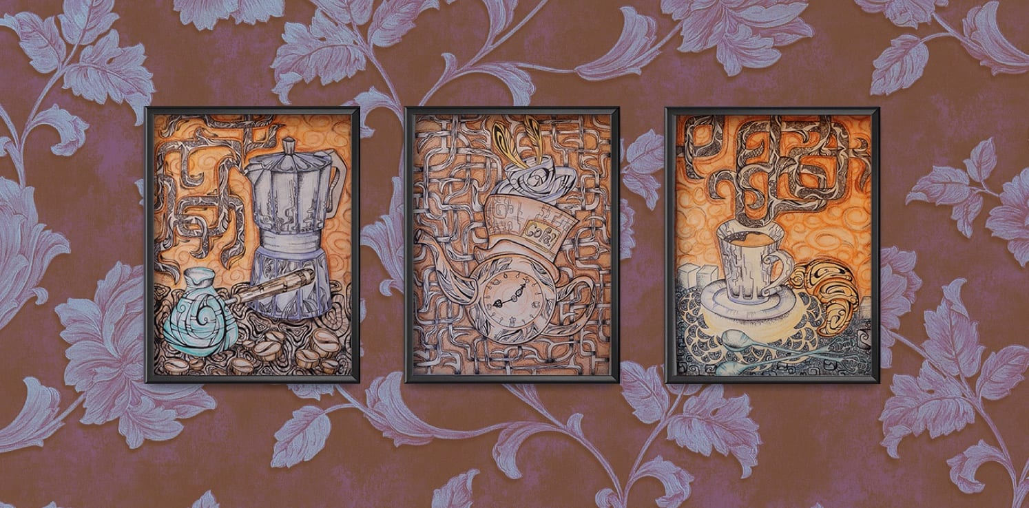 coffee triptych